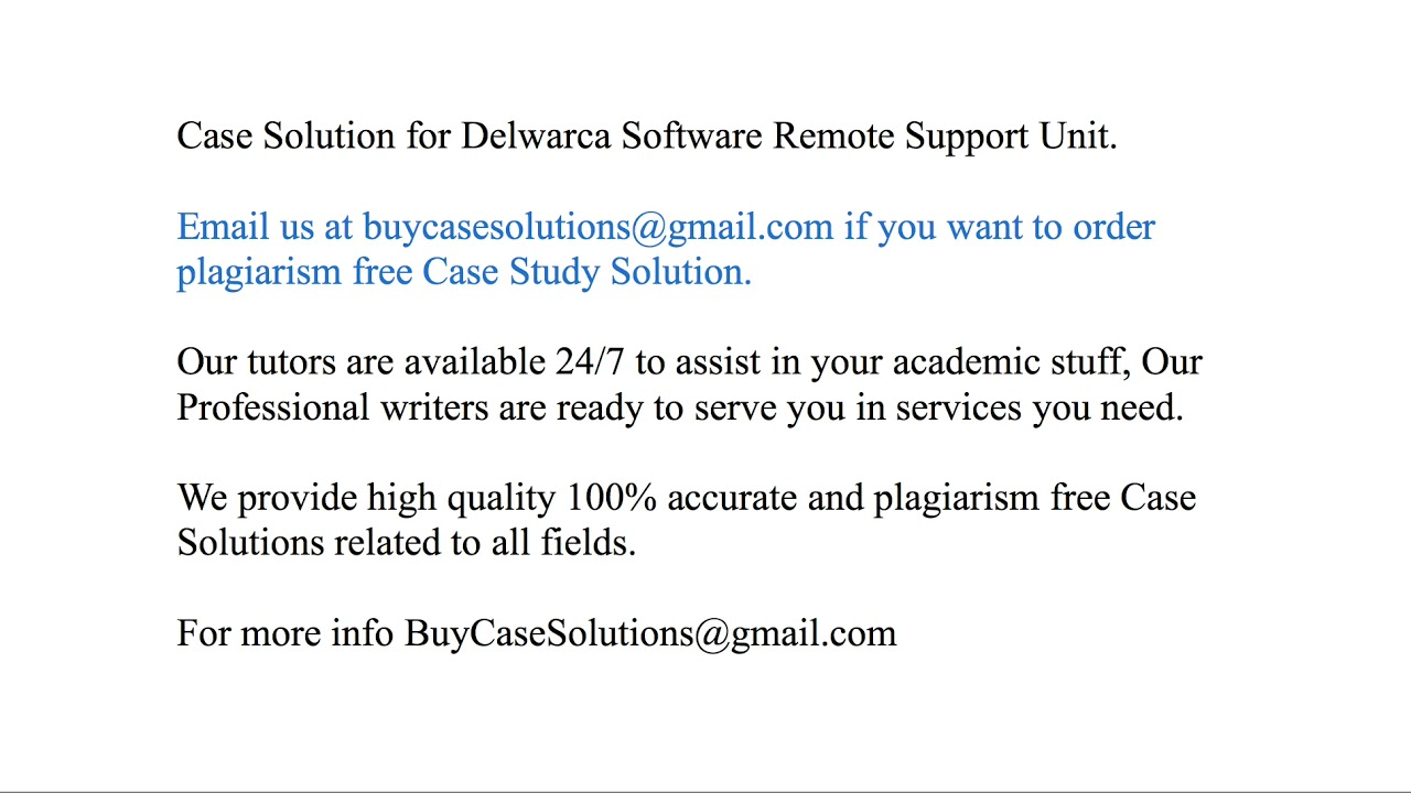 delwarca software remote support unit ppt