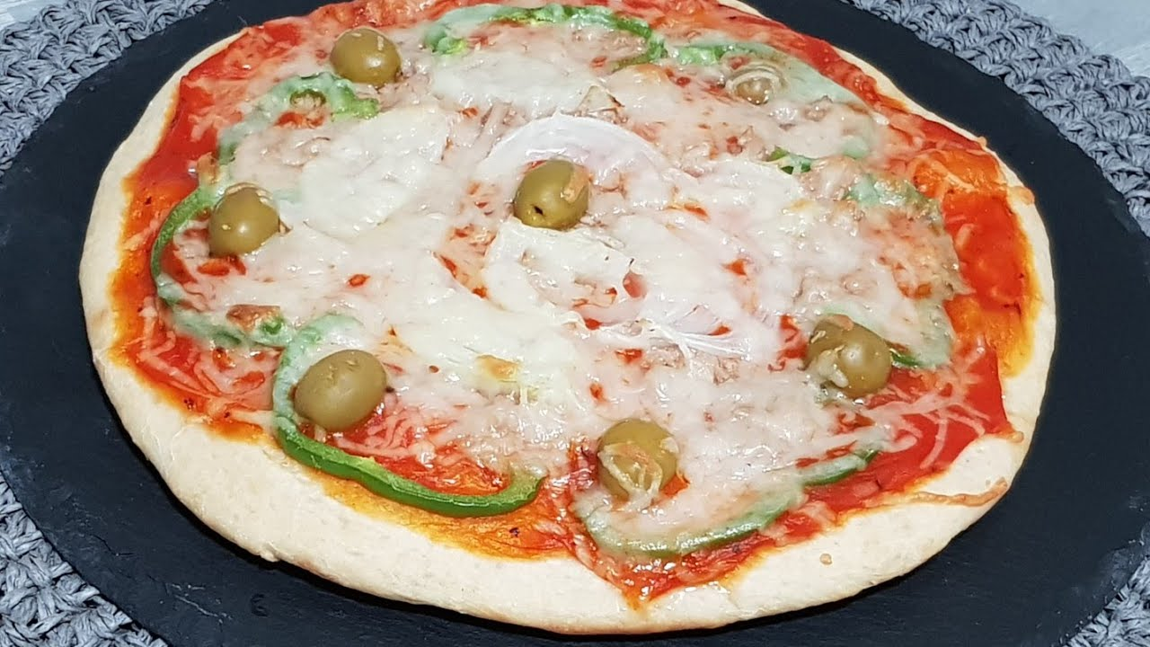 اسهل بيتزا منزلية pizza maison facile🍕