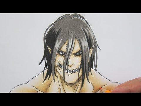 วาดรูปอนิเมะ ไททันเอเลน จากอนิเมะ ผ่าพิภพไททัน Attack on Titan