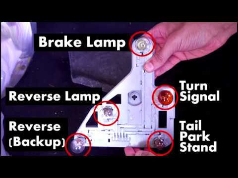 Mercedes Benz C-Cl Replace Rear Light Bulbs Tail Turn Brake Stop Reverse on