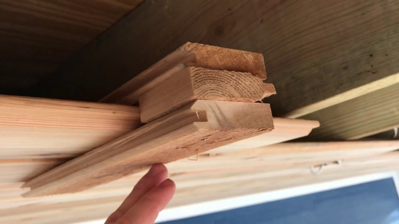 Installing Cedar Tongue And Groove Porch Ceiling Youtube