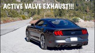 FACTORY EXHAUST?! 2019 MUSTANG GT ACTIVE VALVE EXHAUST COMPARISON! PURE SOUND REVS & ACCELERATION