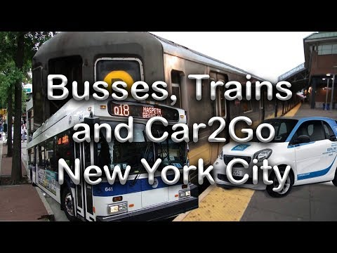 Busses, Subway and Car2go New York City