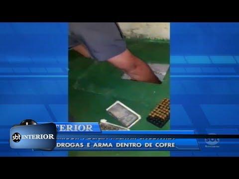 Birigui: PM encontra drogas e arma dentro de cofre