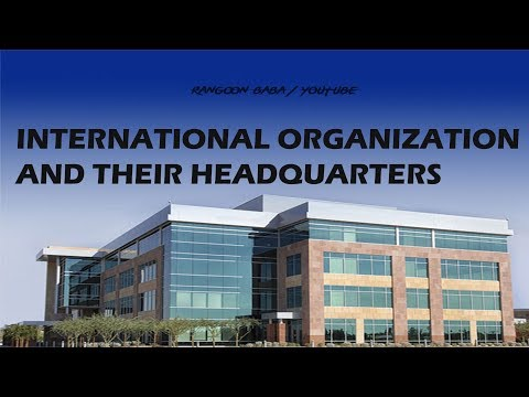 International Organization And Their Headquarters In Hindi - Static GK Tricks