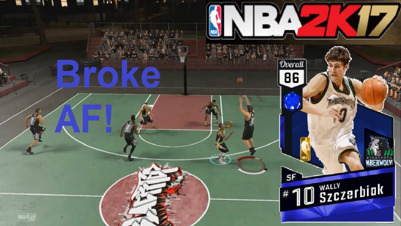 NBA 2K17 Sapphire Wally Szczerbiak Can t Shoot MyTeam Blacktop