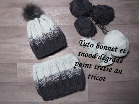 Tuto Bonnet Degrade Point Tresse Au Tricot