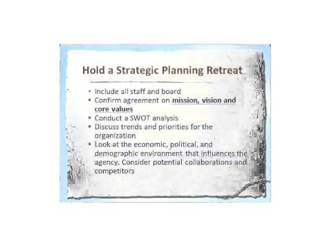 Strategic Planning In Non-Profit Organizations