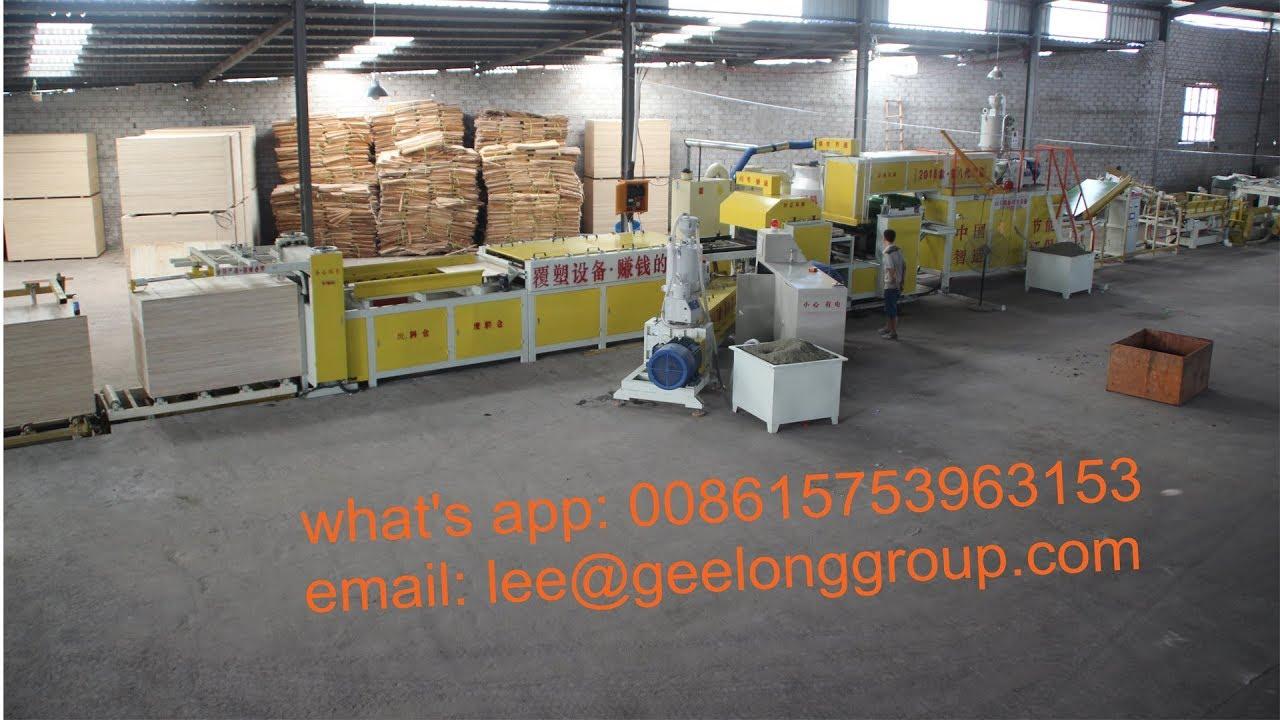 Plastic plywood production line, PP plastic plywood making machine,  construction plywood machine