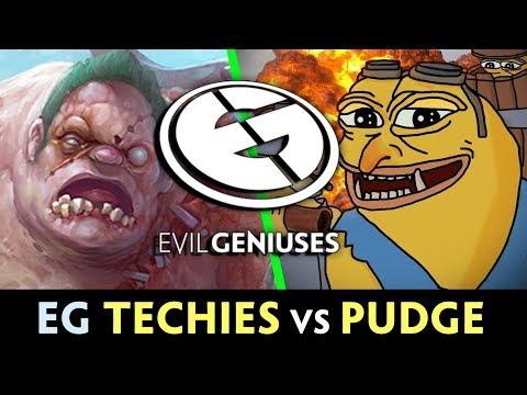 TECHIES vs PUDGE  EG having FUN on MAJOR