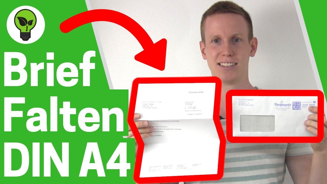 Brief Falten A4 Ultimative Anleitung Für Umschlag Din A4