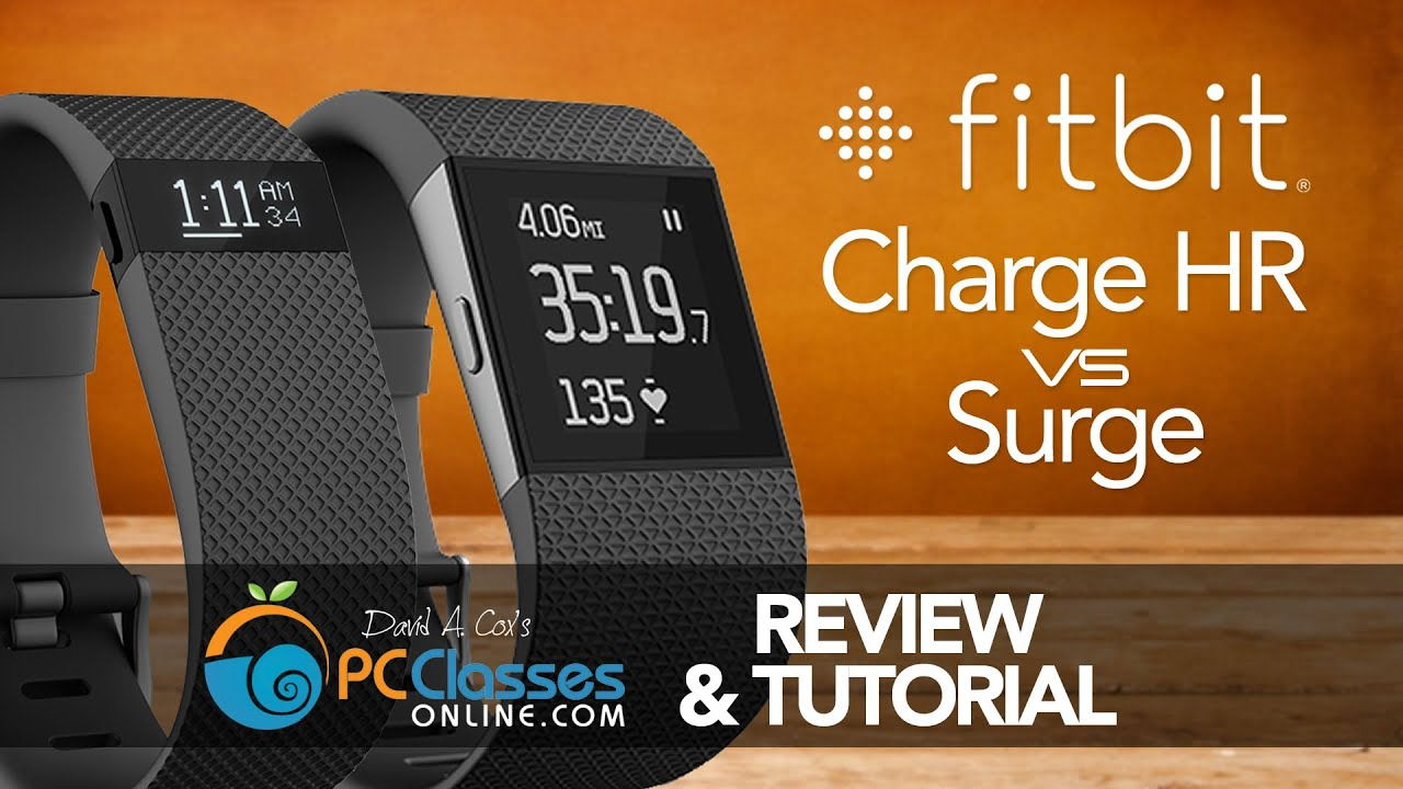 fitbit charge hr  surge review  tutorial youtube