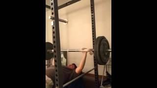 dinosaur training 300 lbs bench press at 175