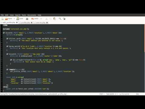 PHP Tutorial: Avatar / Profile Image Upload [part 01]