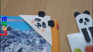 DIY Papier Panda Lesezeichen DIY