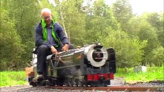 South African Railways Live steam class 23 at Perth track 20-09-15