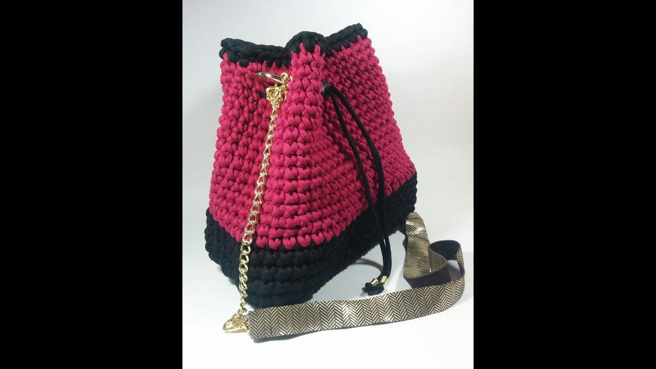 Crochet And Style A Tshirtyarn Bucketbag Youtube
