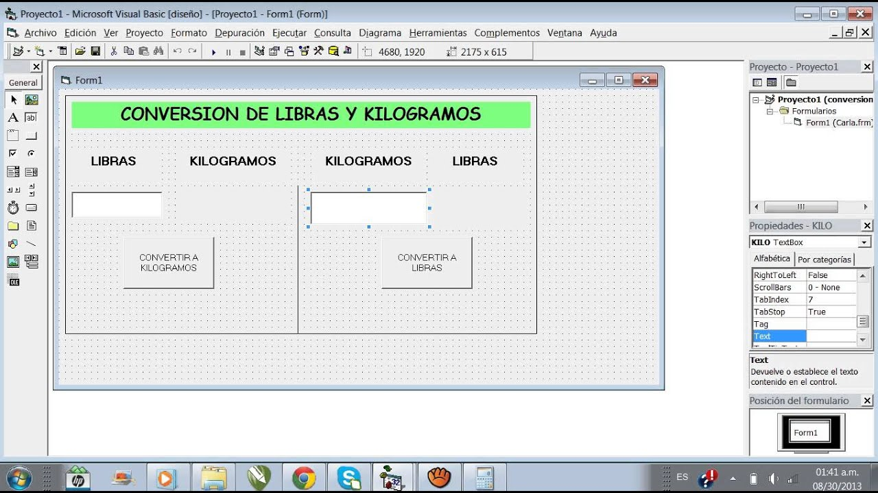 Conversion Libras A Kilos Tutorial Realizar Conversiones De Libras Y Kilogramos En Visual Basic