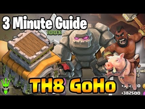 How To 3-Star at TH8! - TH8 GoHo - 3 Minute Guide - Clash of Clans - Best TH8 Attack