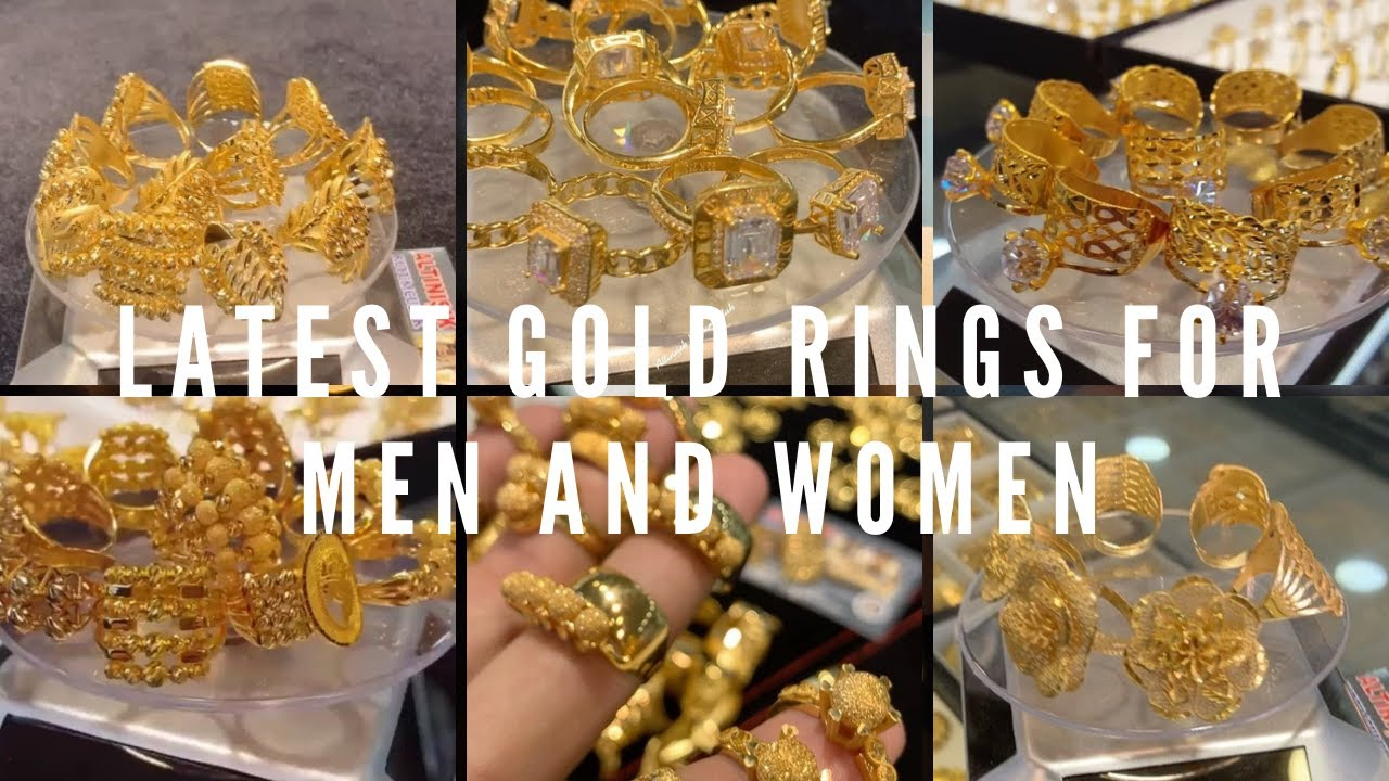 Gold Rings for Men and Women    Latest 22K Gold Rings Collection    Fashionable Gold Ring Designs