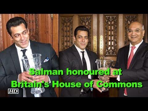 Salman Khan honoured at Britain's House of Commons