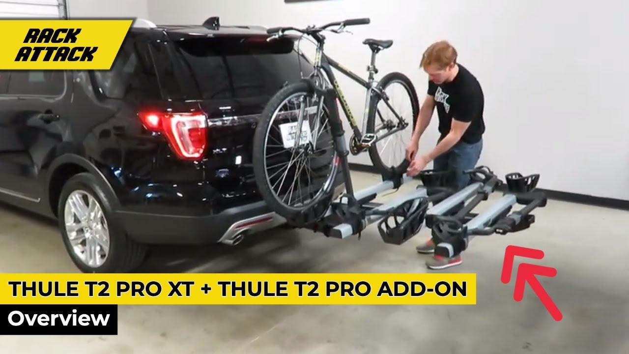 thule t2 pro xt platform 2 bike rack with 2 bike add on overview