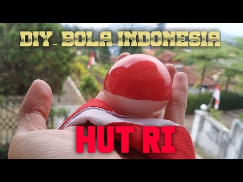 DIY kerajinan resin bola bendera indonesia