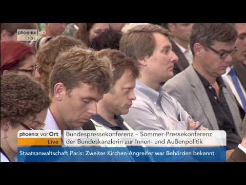 Pressekonferenz Bundeskanzlerin Angela Merkel zur Innen- und Außenpolitik am 28.07.2016