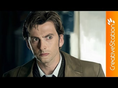 Doctor Who (David Tennant) - Speed Painting (#Paint tool SAI) | CreativeStation