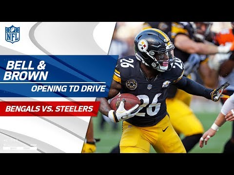 Le'Veon Bell & Antonio Brown Lead Pittsburgh on Opening TD Drive! | Bengals vs. Steelers | NFL Wk 7