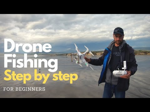 How to use a DRONE for surfcasting - Simple Drone fishing setup