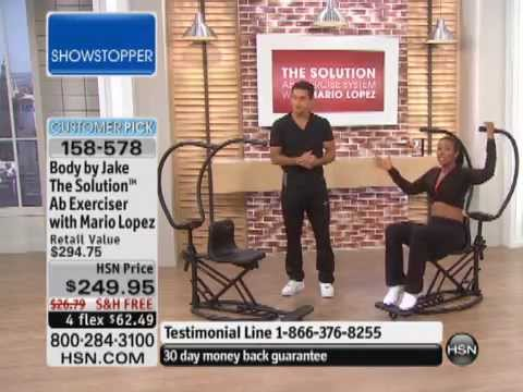 Body by Jake The Solution Ab Exerciser with Mario Lopez Workout DVD