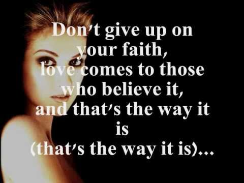 THATS THE WAY IT IS LYRICS  CELINE DION