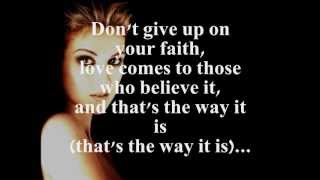 Repeat youtube video THAT'S THE WAY IT IS (LYRICS) - CELINE DION