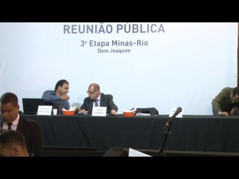 Reunião pública sobre a Etapa 3 do Minas-Rio em Dom Joaquim (MG)