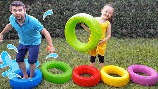 Öykü'nün Survivor Parkuru - Colored Wheels For Kids - Funny Oyuncak Avı