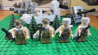Лего военные. Лего советские солдаты и снегоход.  Лего 2 Мировая война..
