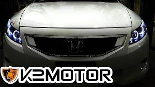 K2 MOTOR INSTALLATION VIDEO: 2008-2012 HONDA ACCORD 2 DOOR PROJECTOR HEADLIGHTS