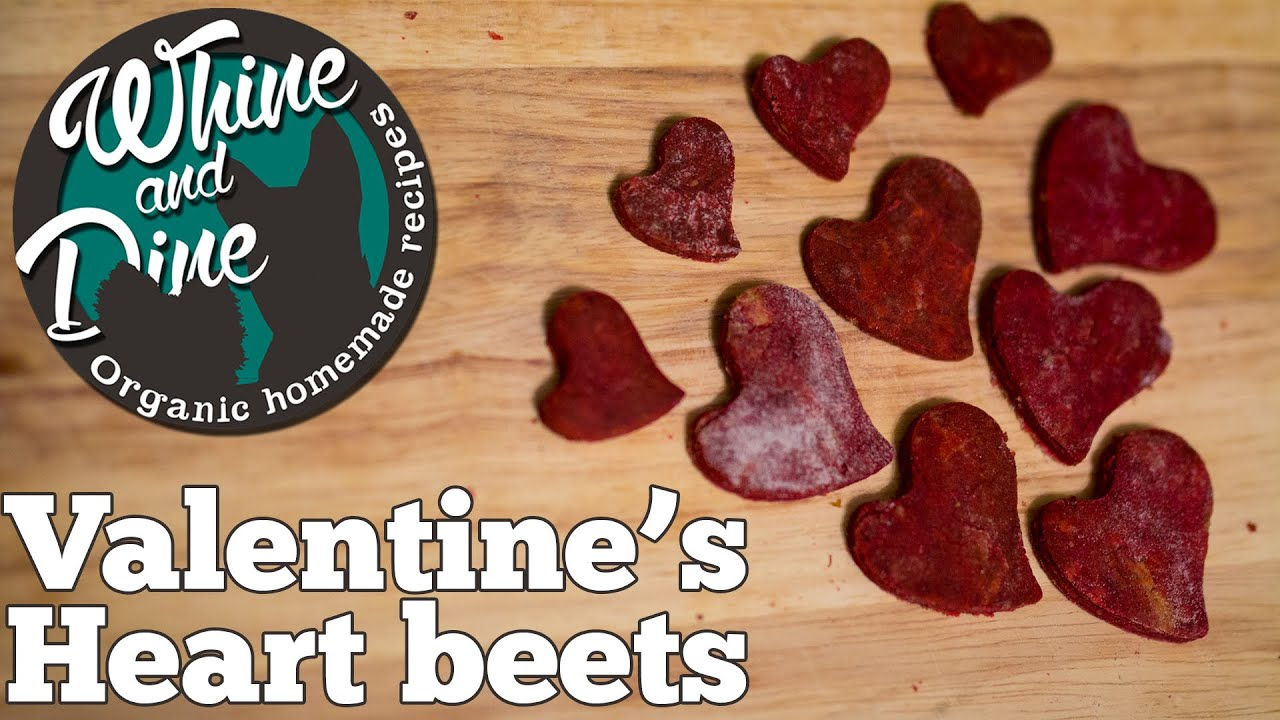 Homemade Valentineu0027s Heart Beet Dog Biscuits