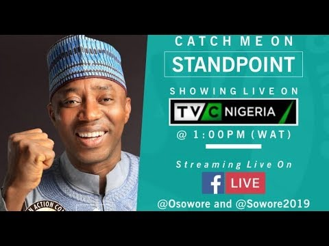 LIVE : Omoyele Sowore On TVC Stand Point #Sowore2019 #AACParty #TakeitBack #Action #TheFutureIsNow