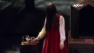 Watch devil daughter in a scary scene