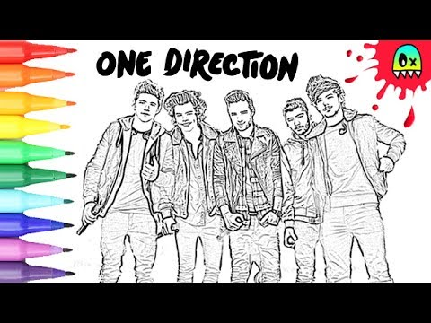 Coloring Pages One Direction I Fun Videos For Kids