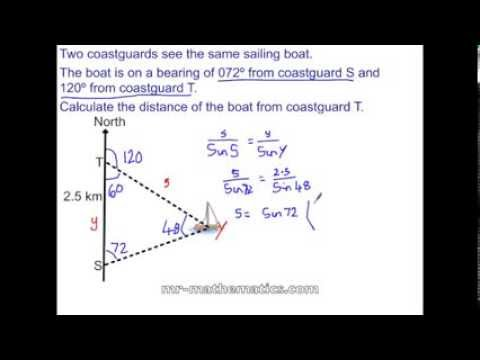 Applying the Sine Rule Exam Revision - YouTube