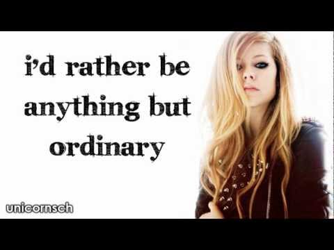Anything But Ordinary // Avril Lavigne // Lyrics