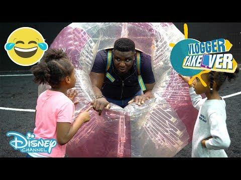 Vlogger Takeover | Zorbing with Tekkerz Kid & Family! | Disney Channel UK
