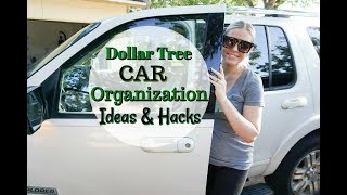 DOLLAR TREE CAR ORGANIZATION IDEAS & HACKS| MEGAN NAVARRO
