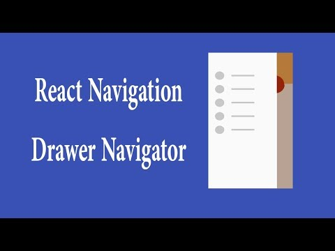 react navigation drawer navigation with example