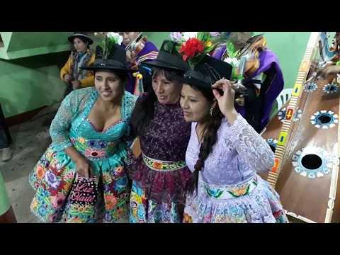 Yasmín Corazón, Mariposita y Nevadita, en la fiesta patronal Raccaya 2017.