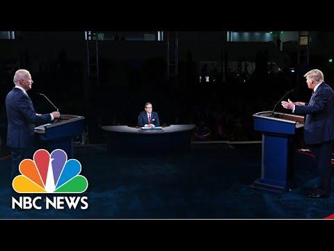 Wallace Tries To Keep Trump From Interrupting Biden At Debate | NBC News