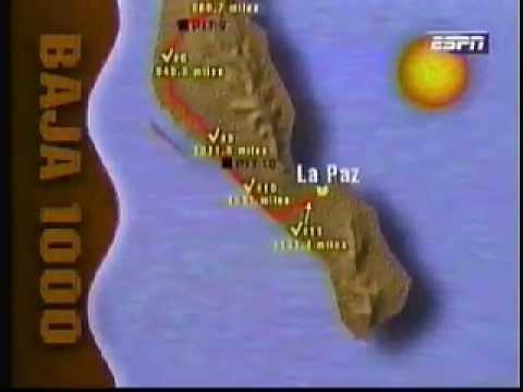 1995 Baja 1000 Course Map